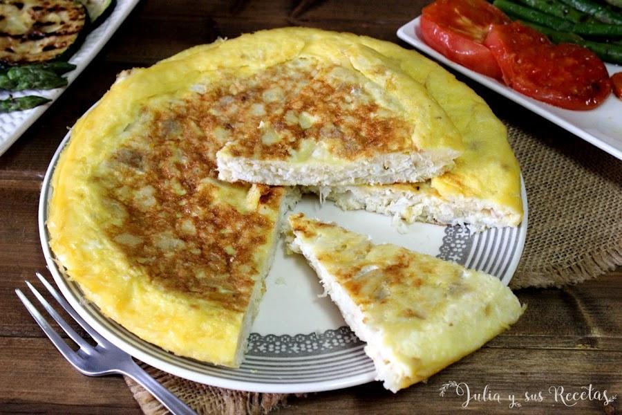 Tortilla de bacalao. Julia y sus recetas