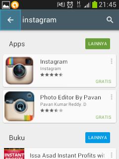 daftar instagram di hp android