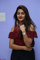 Pavani Gangireddy in Cute Black Skirt Maroon Top at 9 Movie Teaser Launch 5th May 2017  Exclusive 068.JPG