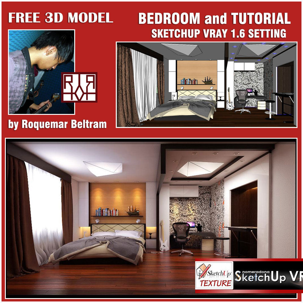 Home Design Software Sketchup: SKETCHUP TEXTURE: VRAY TUTORIAL INTERIOR
