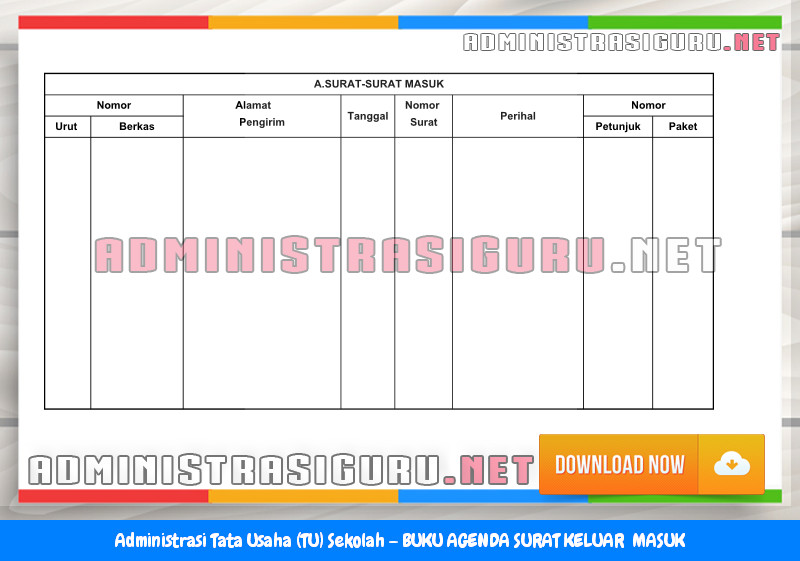 Contoh BUKU AGENDA SURAT KELUAR MASUK Administrasi Tata Usaha Sekolah Terbaru Tahun 2015-2016.docx