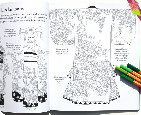 Motifs japonais à colorier - Usborne