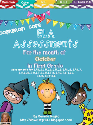 https://www.teacherspayteachers.com/Product/Common-Core-ELA-Assessments-1st-Grade-October-933040