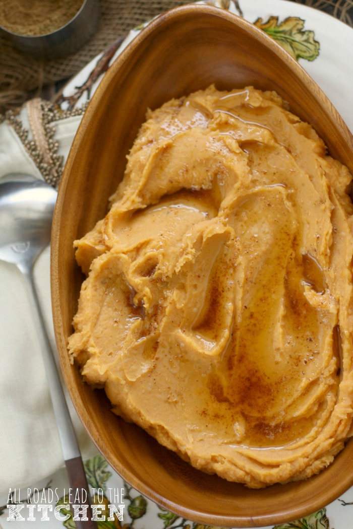 Brown Butter Garam Masala Mashed Sweet Potatoes
