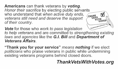 Thank Vets with Votes response card (back)