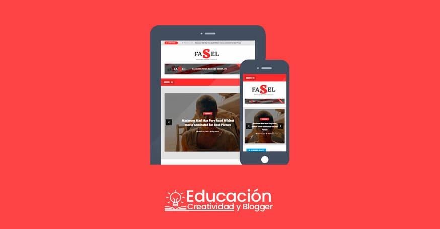 Plantilla Blogger 2019 profesional gratis responsive