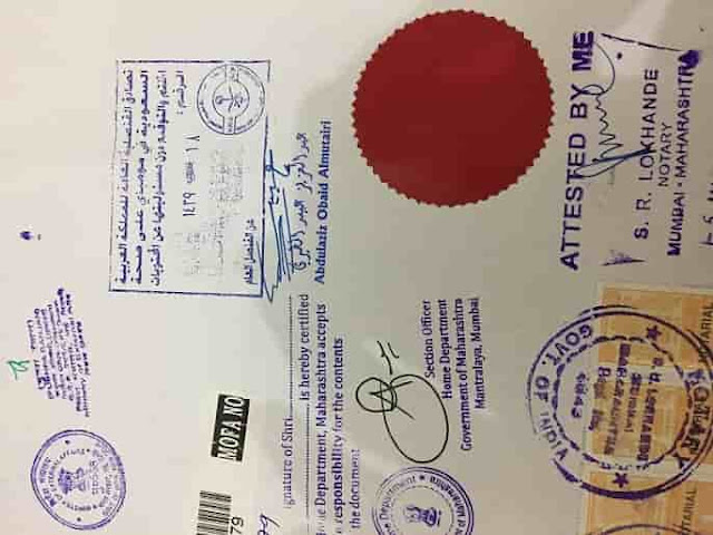 MARRIAGE CERTIFICATE CREATION & SAUDI ATTESTATION IN INDIA