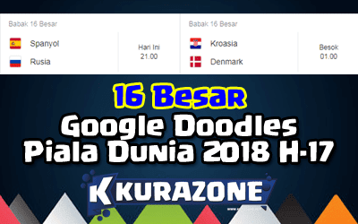 Google Doodles - Piala Dunia 2018 H-17 (Babak 16 Besar)