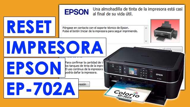 resetear almohadillas impresora Epson EP702A