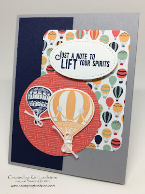 Stampin' Up! Lift Me Up Bundle Card created by Kim Lundstrom for Stamping to Share