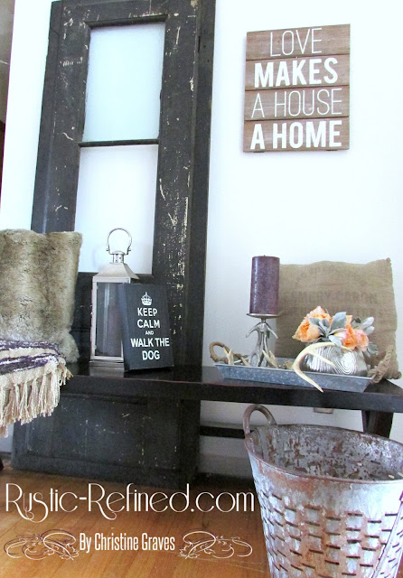 Farmhouse entryway decor