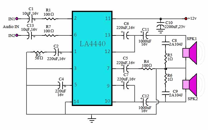 Power Amplifier Ic La4440 : la4440 stereo power amplifier electronic circuit ~ Russianpoet.info Haus und Dekorationen