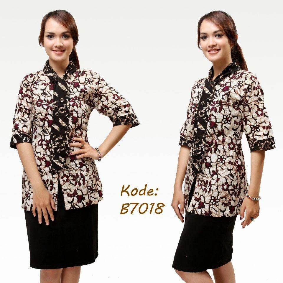 Trend Batik Kerja 2014: Model Baju Kerja Batik