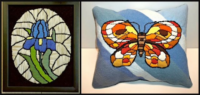 """Examples of """"stained-glass stitchery"""""""