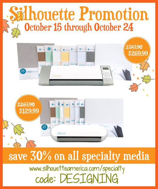 Silhouette Specialty Media Promotion | up to 30% off fabulous products | #silhouette #promotion