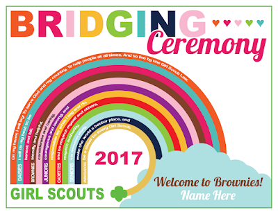 Girl Scout Custom Bridging Ceremony Certificate