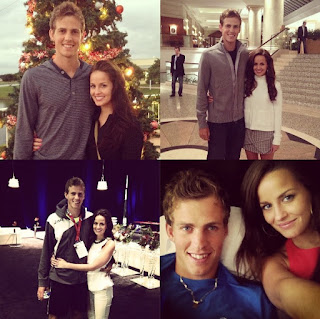 Vasek Pospisil with his long-term girlfriend Holly Roe