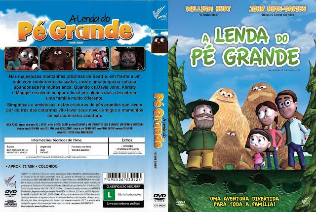 Capa DVD A LENDA DO PÉ GRANDE