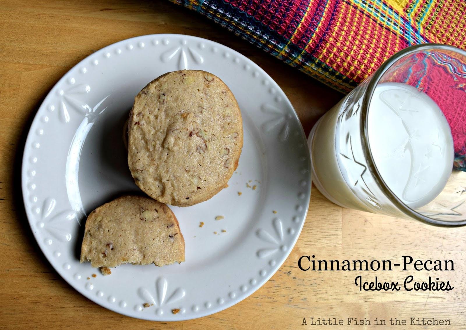 Cinnamon Pecan Icebox Cookies A Little Fish In The Kitchen
