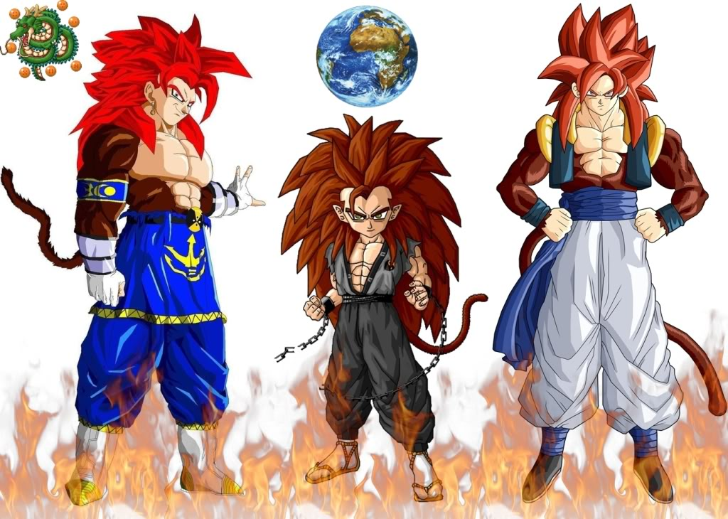 DRAGON BALL Z WALLPAPERS: Gotenks super saiyan 4