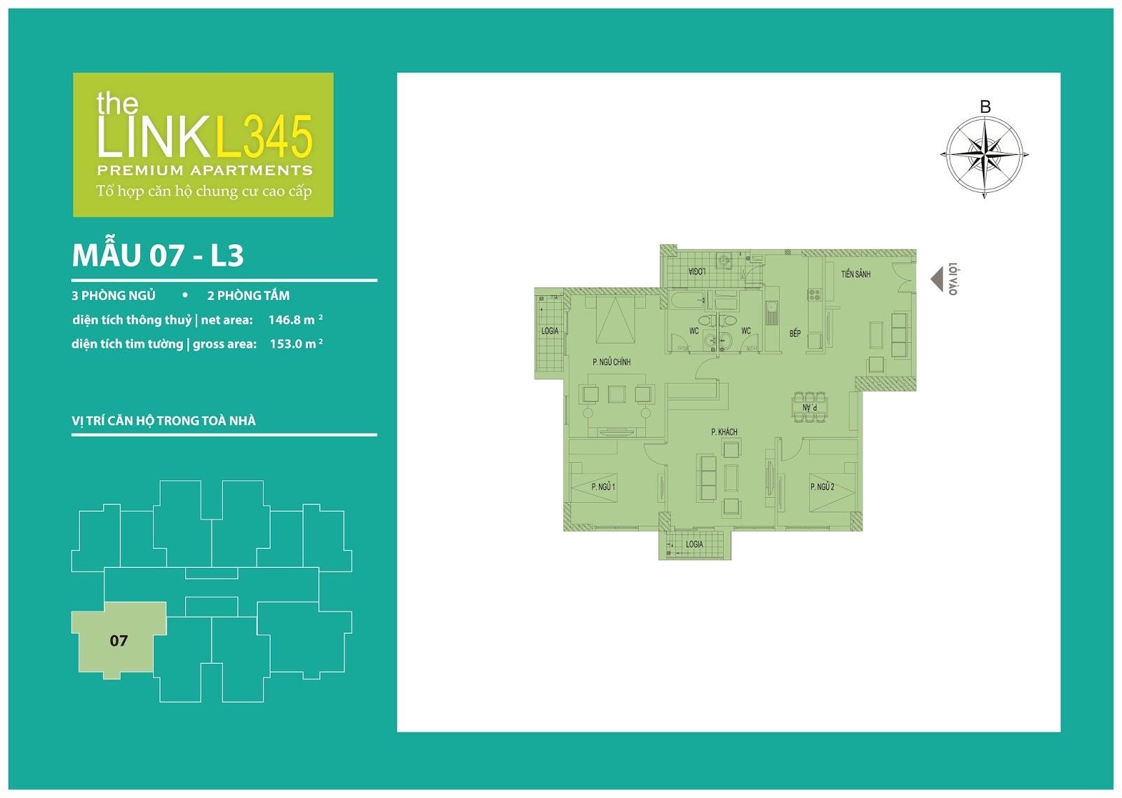 Mặt bằng chi tiết căn hộ 07 - L3 The Link