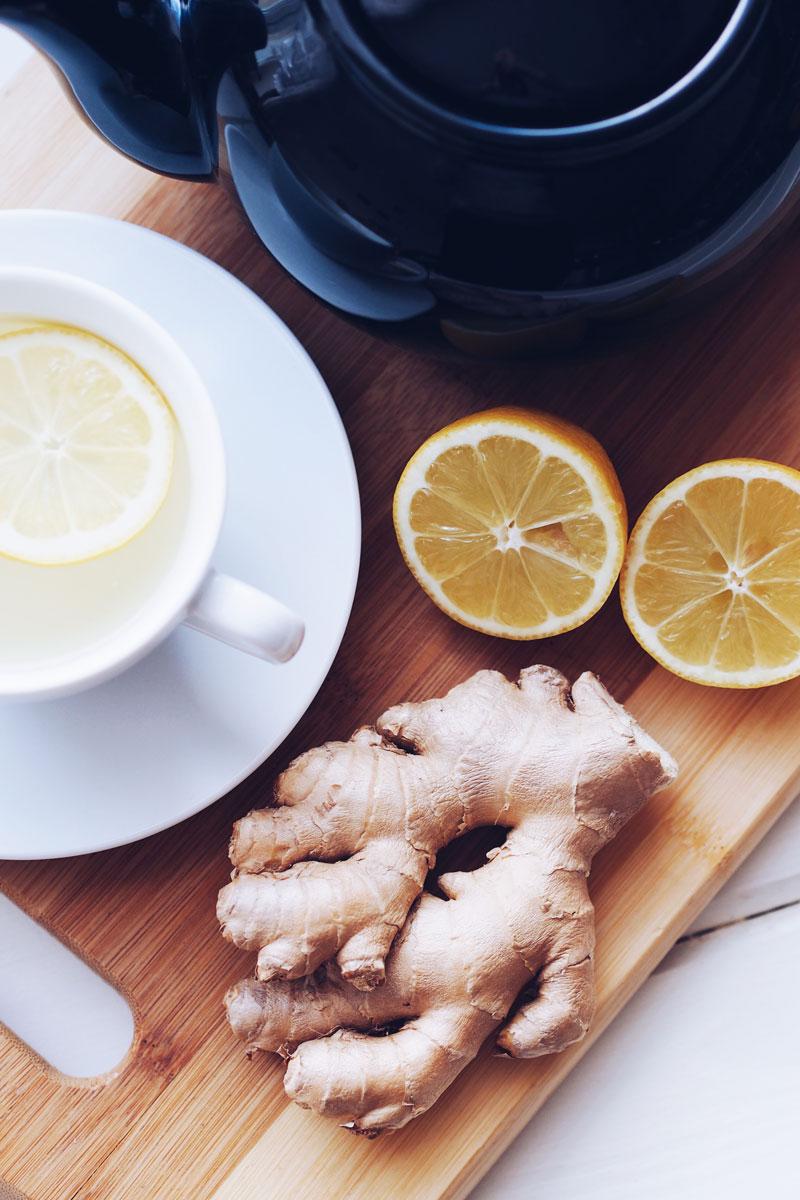 Herbata imbirowo-cytrynowa - właściwości oraz przepis.