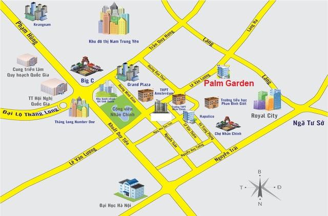 Vị trí dự án The Golden Palm Lê Văn Lương