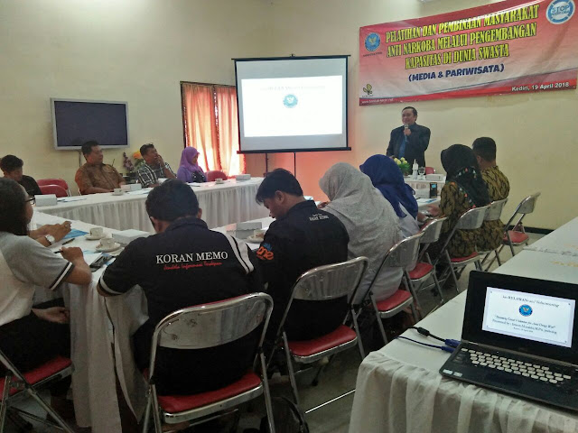BNN Kabupaten Kediri Gelar Pertemuan Dengan Awak Media Bahas Darurat Narkoba