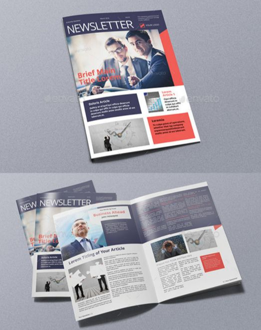 43. Business Newsletter A4 & Letter Size