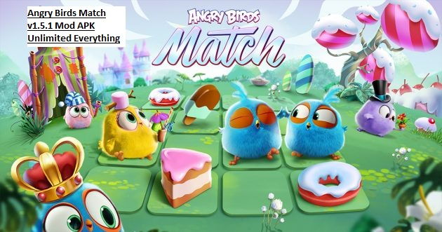 Angry Birds Match v1.5.1 Mod APK Unlimited Everything