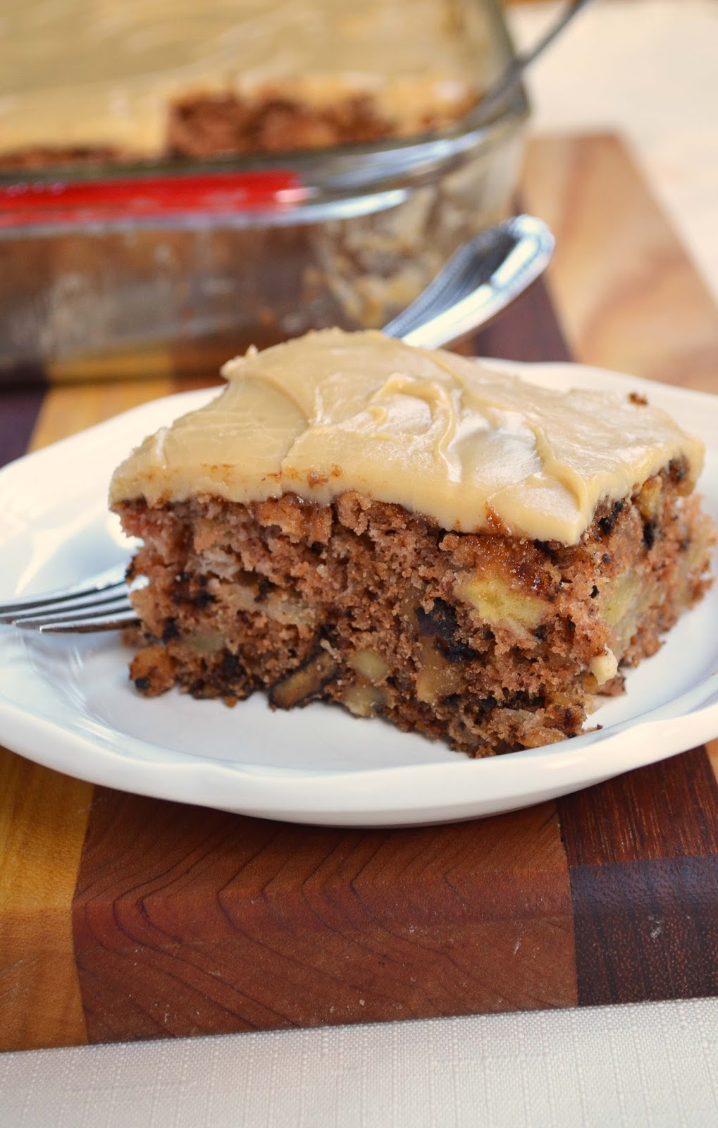 Our Beautiful Mess Old Fashioned Apple Cake With Brown Sugar Frosting