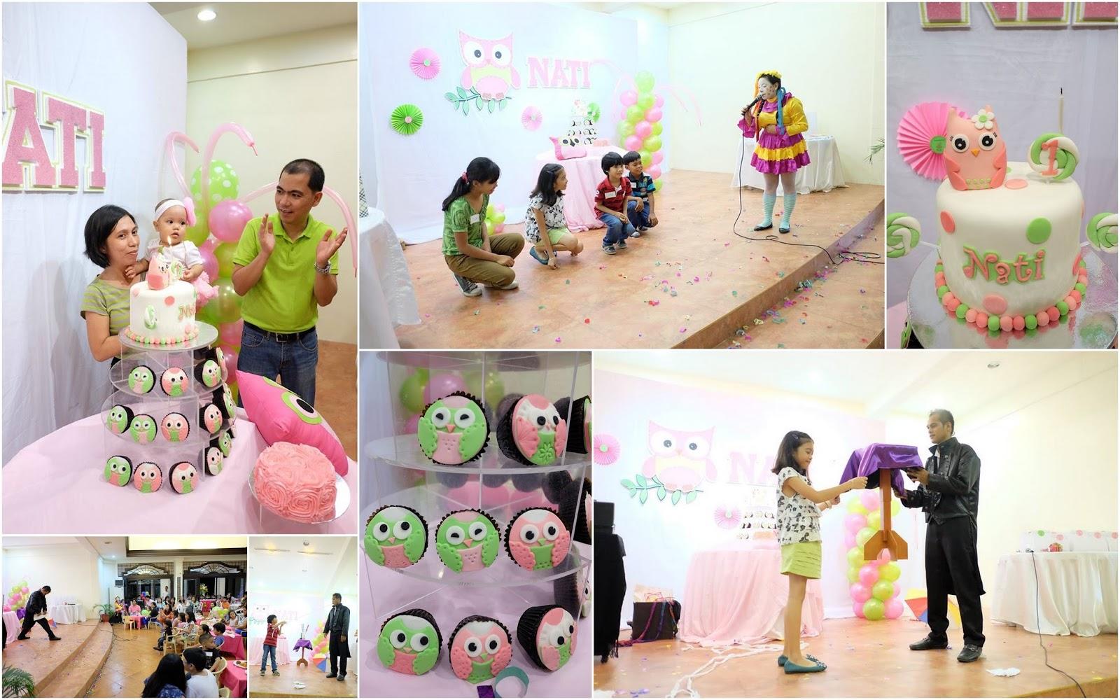 Nati's Owl Themed Birthday Party Davao City