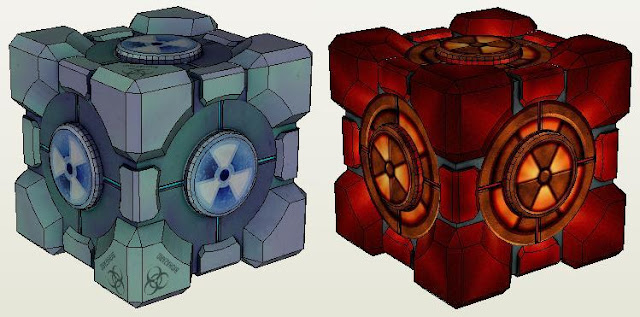 For all fans of Portal videogame here is the Weighted Storage Cube in a perfect paper model version with several different textures created by Russian ... & PAPERMAU: Portal - Weighted Storage Cube Paper Model - by Evgen MooNFish