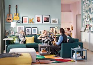 Dekorasi minimalis untuk ruang keluarga Dengan furniture