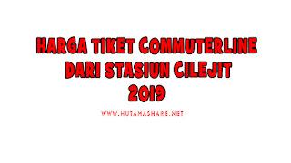 Harga Tiket Commuterline Dari Stasiun Cilejit Terbaru 2019