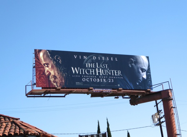 Last Witch Hunter film billboard