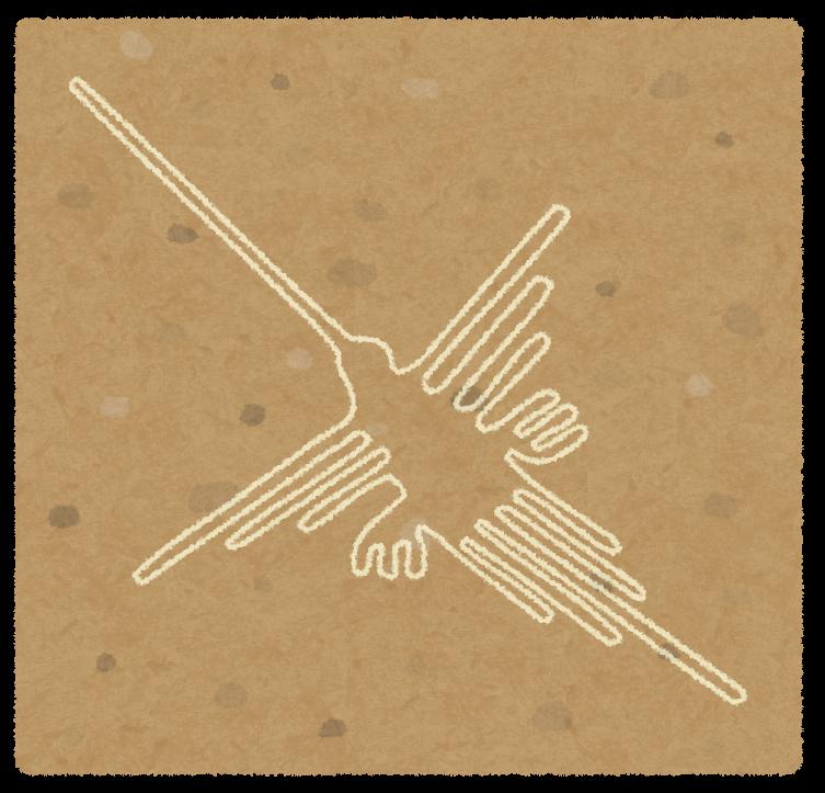 鳥のナスカの地上絵イラスト