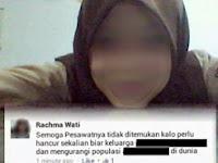 Heboh ! Rachma Wati Hina Korban AirAsia Melalui Facebook