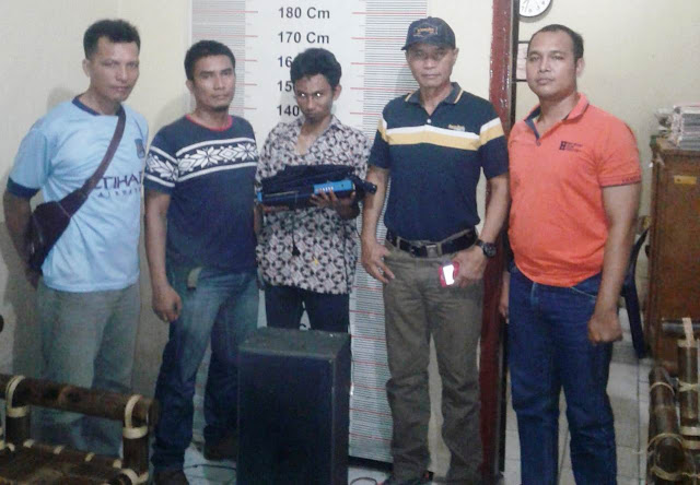 Polsek Stabat Tangkap Pelaku Pembongkaran Rumah Warga