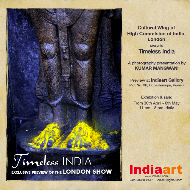 Timeless India by Kumar Mangwani, a photography exhibition at Indiaart Gallery, Pune