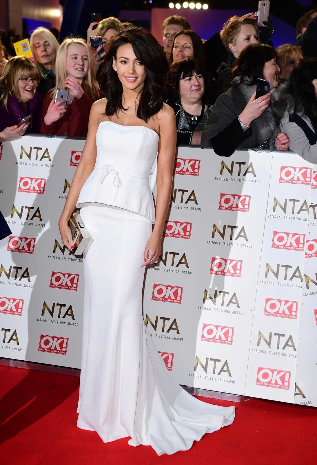 Michelle Keegan at National Television Awards 2017 in London
