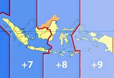 Wilayah Indonesia terbentang dari Sabang di ujung barat hingga Merauke di ujung timur Pembagian Waktu di Indonesia Beserta Daerahnya (WIB, WITA, WIT)