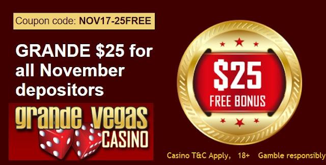 Grande Vegas Casino $25 FREE