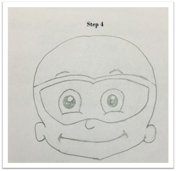 Draw mighty Raju cartoon