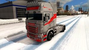 Red Tattoo skin for Scania RJL