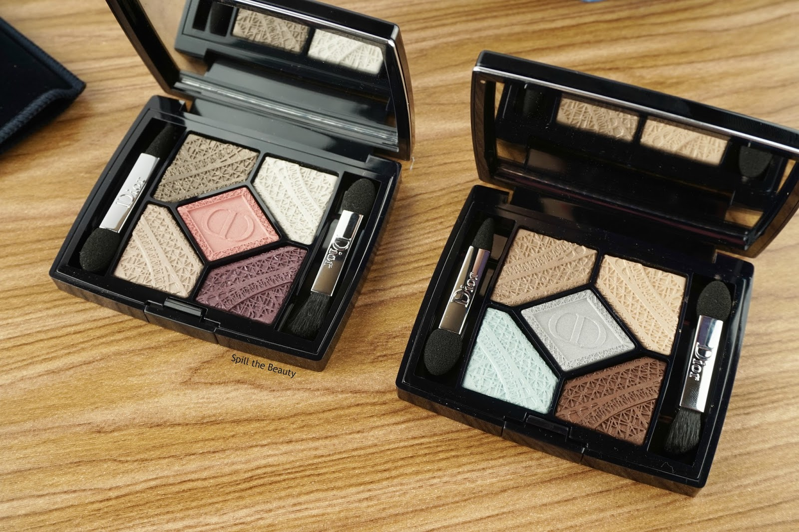 dior 5 couleurs skyline eyeshadow palette capital of light review parisian sky swatches