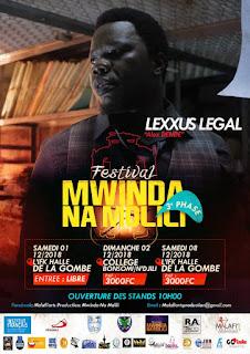 Festival Mwinda Na Molili 3ème phase : Lexxus Légal à l'affiche !