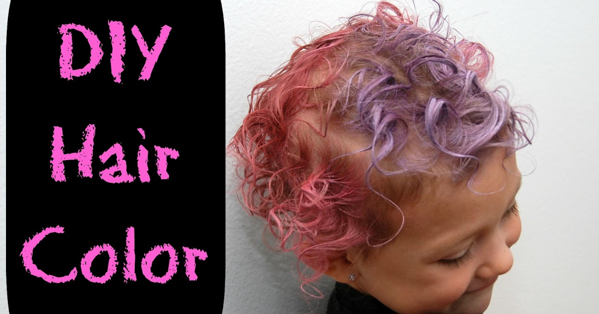 Coloring for Kids colored hairspray for kids : One Creative Housewife: DIY Hair Color