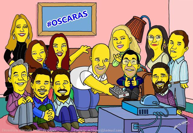 Caricatura no estilo Simpsons criada por Marcelo Lopes de Lopes