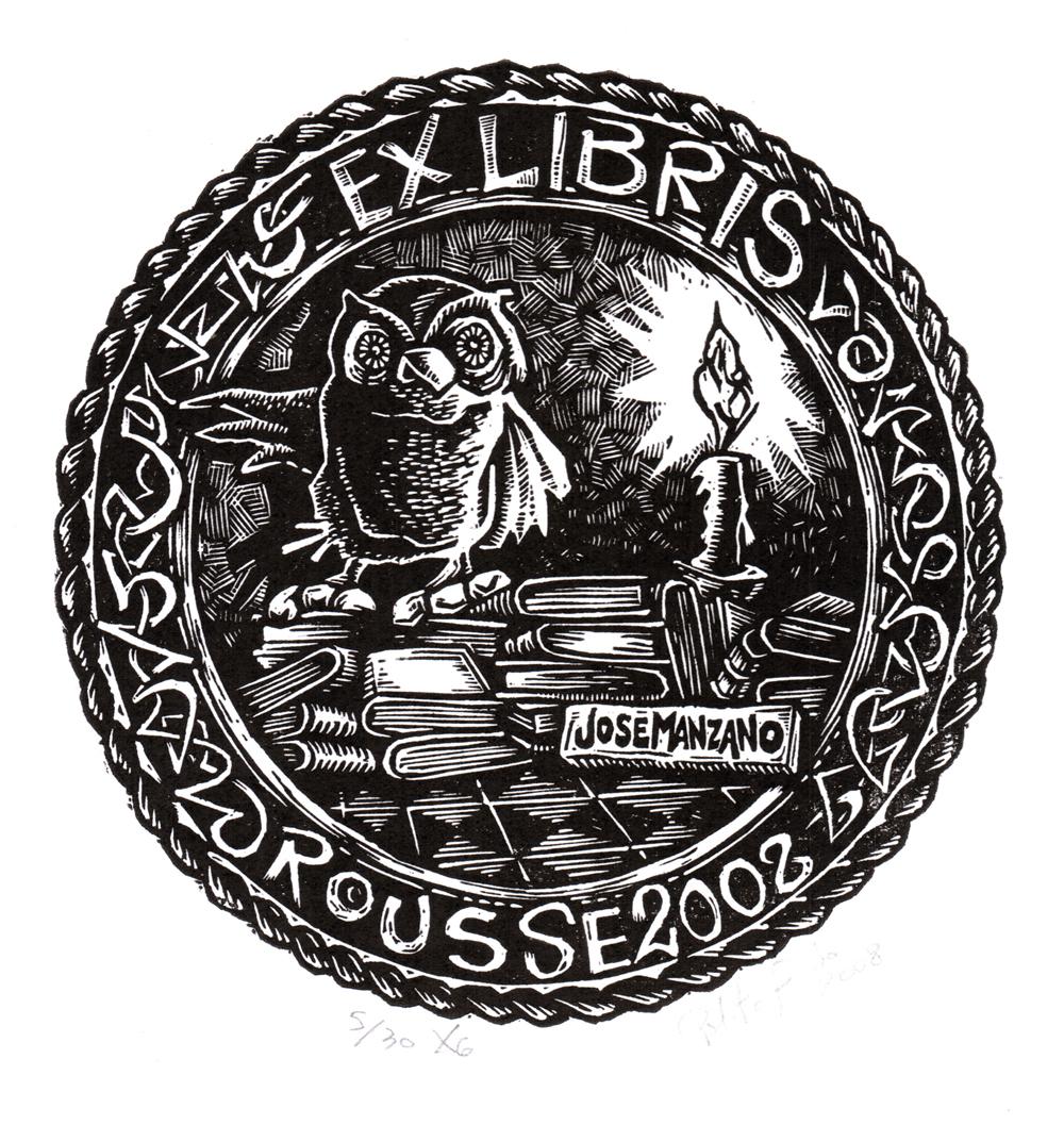 ex libris argentina fernando javier polito ex libris para jose manzano ex libris buhos ex libris modernos exlibristas argentinos